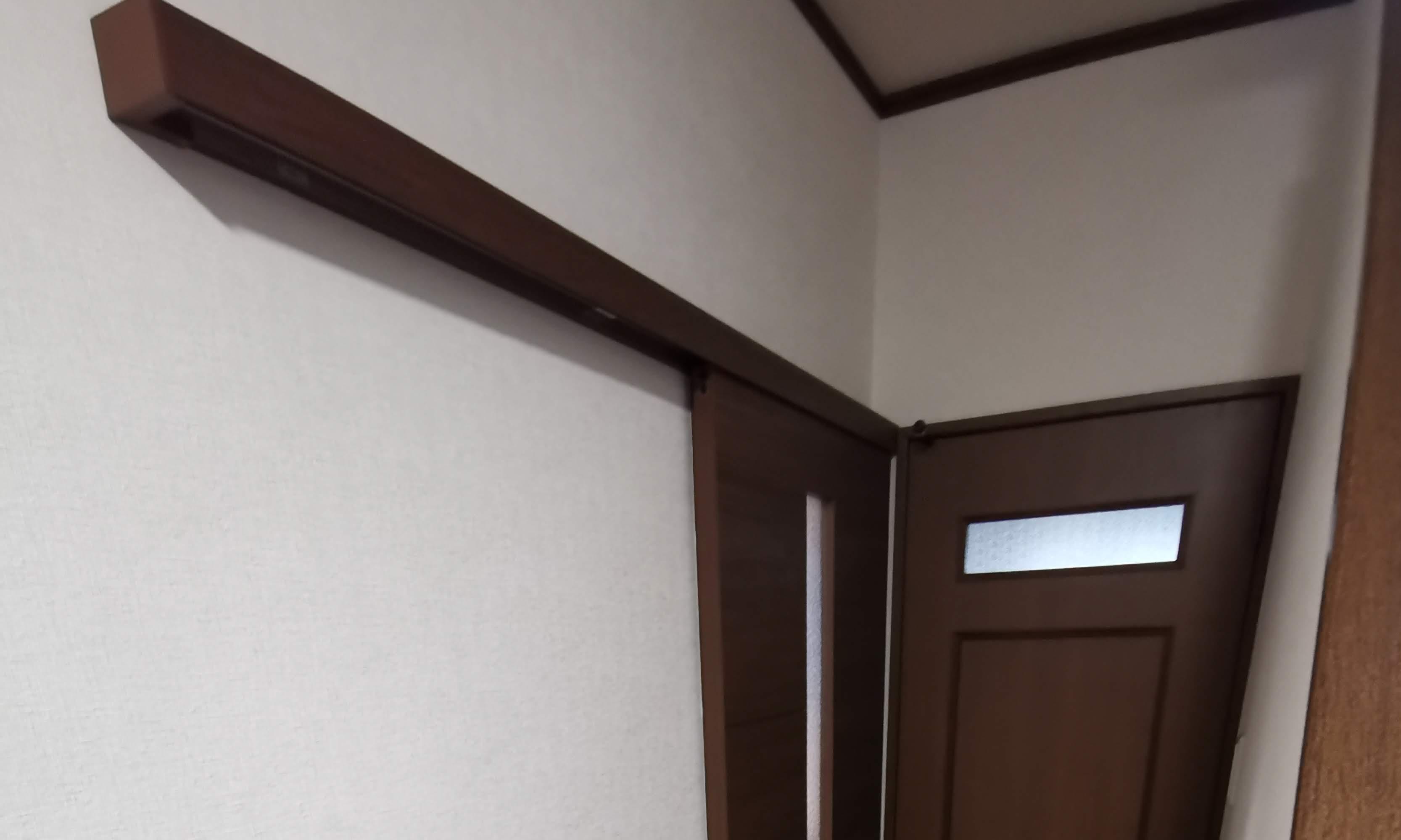 【洗面収納】ドアをアウトセット引戸に【八戸市・階上町】